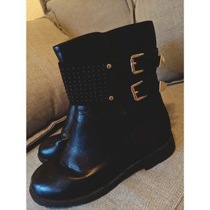 Michael Kors Black Utility Booties